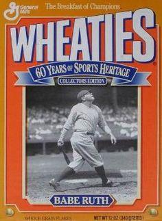 Babe Ruth New York Yankees Wheaties Box Rare