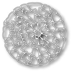 MB grand zinnia outline  Joans Gardens | Paper crafting products for card making and scrapbooking.