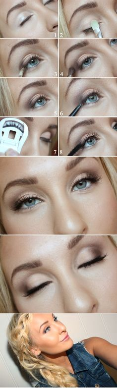 Das richtige Augen Make Up für Ihre Augenformen – 12 goldene Tipps Augen natürlich schminken More from my sitejessica+alba Beauty Make-up, Beauty Hacks, Hair Beauty, Eye Makeup Tips, Hair Makeup, Makeup Ideas, Makeup Tutorials, Makeup Eyeshadow, Makeup Hairstyle