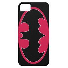 Pink Batman Logo iPhone 5 Cases