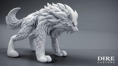 DireWolf 01 by Art-by-Smitty on DeviantArt Wolf Sculpture, Anatomy Sculpture, 3d Model Character, Character Design, Demon Drawings, Dire Wolf, Garden Whimsy, Modelos 3d, Beautiful Fantasy Art