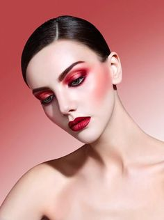 Apply dark or bold colours like bright red, pink or purple. However, if you are wearing a dark colour eye shadow already, keep it low on your lips and apply nude or light pink coloured lipstick.
