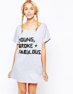 Image 1 ofAdolescent Clothing Young Broke and Fabulous Pyjama Nightshirt