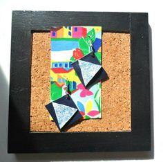Statement earrings, triangle earrings, geometric earrings by TheFormaClay on Etsy