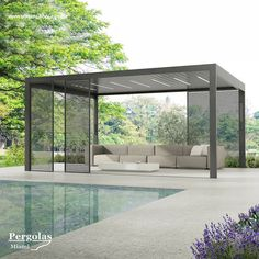 10 Best Pergola Designs, Ideas and Pictures of Pergolas – Top Soop Pool Gazebo, Backyard Pavilion, Backyard Patio Designs, Outdoor Pergola, Backyard Pergola, Pergola Shade, Pergola Designs, Eisen Pergola, Modern Gazebo