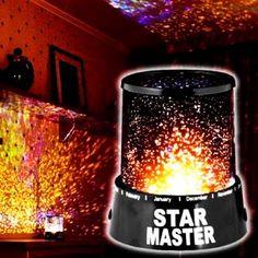Projeksiyon Gece Lambası Star Master Star Master ile yıldızları odanıza taşıyın. Tavanayansıttığı rengarenk yıldızlar ile uykuya dalmak çok kolay. Çocuklarınız…