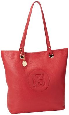 Tommy Hilfiger Pebble Leather Easy Tote,Provincetown Red,One Size