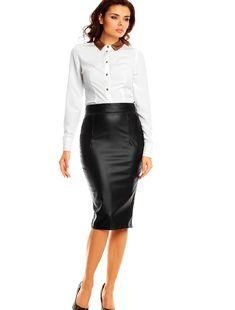 Women's Skirt KAREN Leather Skirt, Skirts, Fashion, Moda, Leather Skirts, Fashion Styles, Skirt, Fashion Illustrations