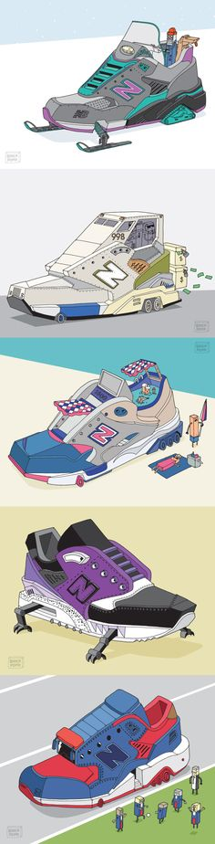 New Balance shoes in Ghica Popa's vision.