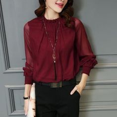 Buy Jiuni Lace Panel Long-Sleeve Top at YesStyle.com! Quality products at…