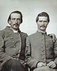 Civil War Photo Print 2 Confederate Soldiers