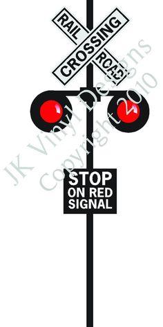 Railroad Crossing Vinyl sign