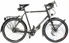 Are you looking for a bike that will be able to take you deep into the wilderness? Let me introduce you to all of the adventure touring bike options! Touring Bicycles, Touring Bike, Rando Velo, Vintage Bikes, Retro Vintage, Urban Bike, Commuter Bike, Cargo Bike, Adventure Tours