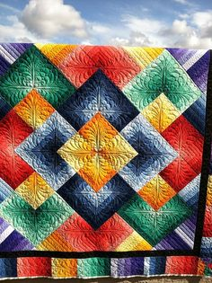 Quilt - Love the use of color on this one!