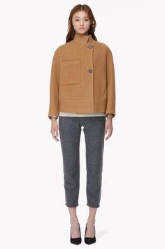 Bib pocket patch crop jacket