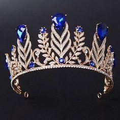 Baroque Vintage Violet Crystal Queen Tiara Fashion Rhinestone Diadem Crown for Women Headbands Diamond Tiara, Rose Cut Diamond, Gold Hair Accessories, Wedding Accessories, Cute Jewelry, Hair Jewelry, Princess Jewelry, Princess Tiara, Crown For Women