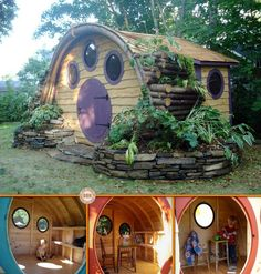 Hobbit Hole Playhouses: I would like one for the kids to have as a playhouse but I would also like a larger one for a studio!