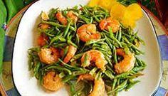 Surinaams eten – Kousenband Garnalen Cc: @Aley Estok Estok Dinesh green bean & shrimp