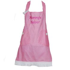 Little Girl Apron, Grammy, Nana Helper, Grandma, Papa, Mommy, Auntie, Oma, Memere, Mammy, Lola, Mimi, Birthday GIft, Ships TODAY AGFT 060 Cooking Kids, Girl Cooking, Grandma Names, Cobbler Aprons, Birthday Gag Gifts, Sewing Studio, Pink Fabric, Free Sewing, Kids Gifts