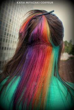 Katia Miyazaki Coiffeur - Salão de Beleza em Floripa: Rainbow - Hair -  Style -  Colors -  Salão de Bele...