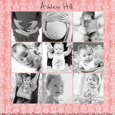 baby's first year collage      #newborns, #babies, #photography, #collage,