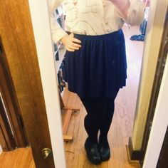 navy jersey high waisted skirt Flirty lil jersey skirt, a total staple in my wardrobe- well loved. Flowy and perfect for hot weather.  ASOS Skirts