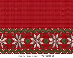 Knitted Christmas and New Year pattern Cross Stitch Christmas Stockings, Xmas Cross Stitch, Christmas Embroidery, Christmas Knitting, In A Little While, Christmas And New Year, Blackwork, Baby Knitting, Sewing