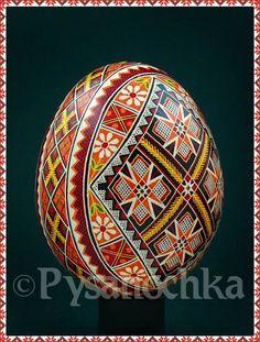 Real Ukrainian Pysanky. Chicken Pysanka High Q from Roman. Easter Egg Hand made