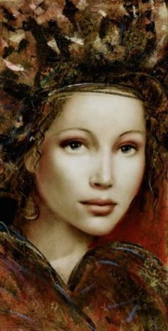 ☆ Artist Csaba Markus ☆ Acrylic Portrait Painting, Watercolor Artwork, Painting & Drawing, Female Portrait, Portrait Art, Work Pictures, Woman Drawing, Fantasy Women, Turbans