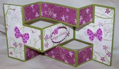 Butterfly Tri-Shutter Card by Lmaco - Cards and Paper Crafts at Splitcoaststampers