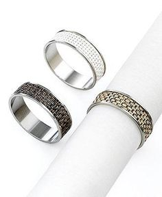 Gorgeous napkin rings for a splash of glitz at the dinner table.