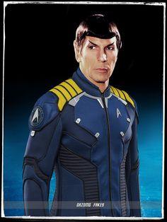 Spock Star Trek Beyond Uniform by gazomg on DeviantArt Star Trek Rpg, Film Star Trek, Star Trek Show, Star Trek Movies, Star Trek Uniforms, History Of Television, Star Wars Jokes, Star Trek Characters, Star Trek Beyond