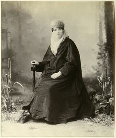 Turkish woman, circa 1860-1870.