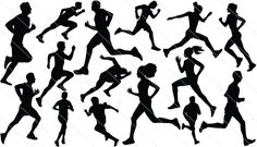 Athletics Silhouette Vector – Sports Running Graphics