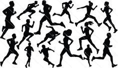 Athletics Silhouette Vector – Sports Running Graphics