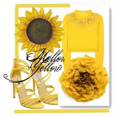 """""""yellow"""" by clarerizzo on Polyvore featuring Steve Madden, Gucci and Miu Miu"""