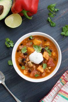 Chicken black bean soup w/ butternut squash