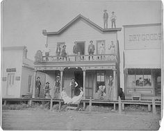 City Hotel - Council Bluffs, IA.         5  2                                   .    . Prev Next      Photograph of the City Hotel on Broadway, with people on the porch and deck. ca.1880