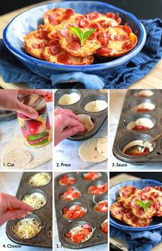 DIY Mini Tortilla Crust Pizzas | iCreativeIdeas.com LIKE Us on Facebook ==> https://www.facebook.com/icreativeideas