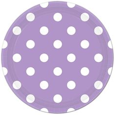 Lavender Polka Dot Lunch Plates (16) Check out the rest of our Lavender Polka Dot Party Supplies