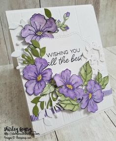 Sixteen Stampin' Up! Projects by Amy's Inkin' Krew Featured Stampers – Stamp With Amy K Purple Cards, Stampin Up Catalog, Embossed Cards, Some Cards, Stamping Up Cards, Flower Cards, Greeting Cards Handmade, Homemade Cards, Wedding Cards