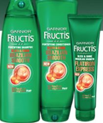"""FREE Sample of Garnier Fructis Brazilian Smooth Haircare 