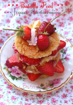 Layer cake aux fraises Bistro, 1 An, Cereal, Strawberry, Fruit, Breakfast, Cake, Desserts, Food