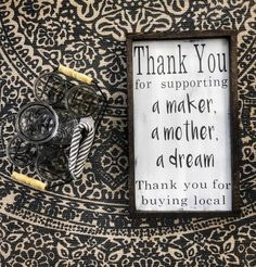 Shop Local Thank You for Supporting a Maker A mother A deeam Thank you for shopping local / Vendor Sign / Craft booth sign / Local Business - - Vendor Displays, Craft Booth Displays, Vendor Booth, Display Ideas, Booth Ideas, Craft Show Booths, Craft Show Ideas, Craft Fair Table, Business Signs