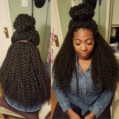 """Crochet Or Nah?!?!?   New Hair Alert   From @janetcollection """"Beach Curl""""  Versatility is . Flawless ..."""