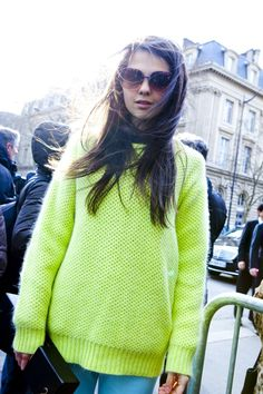 neon knit..looks comfy.