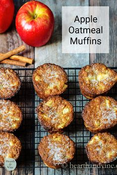 This easy recipe combines apples, almond flour, and oats for a super moist gluten free muffin you will love. Apple Oatmeal Muffins, Apple Cinnamon Oatmeal, Gluten Free Muffins, Gluten Free Oats, Family Recipes, Family Meals, Other Recipes, Great Recipes, Oats Recipes