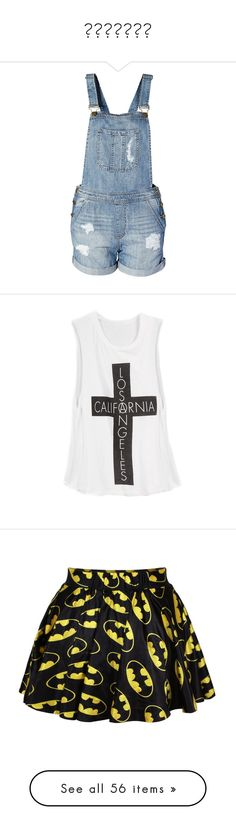 """""""Странно"""" by khlop ❤ liked on Polyvore featuring shorts, overalls, pants, bottoms, overall shorts, overalls shorts, distressed denim shorts, bib overalls shorts, bib overall shorts and tops"""