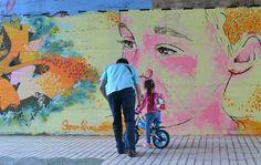 Pont sota de la carretera de Cambrils // ROGER SEMAT  #art #semat #watercolor #artwork #cambrils #graffiti #design #colors #reus