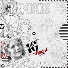 I love this beautiful page by Brenda (All My Heart) of #DesignerDigitals.com